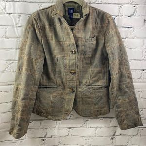 Gap plaid patchwork jacket
